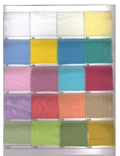 Sheer Fabric Colors