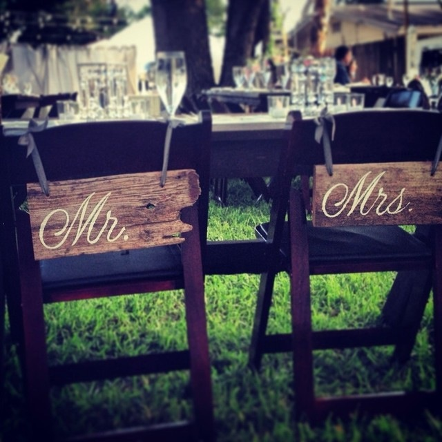 Mr. and Mrs. Chair Decoration