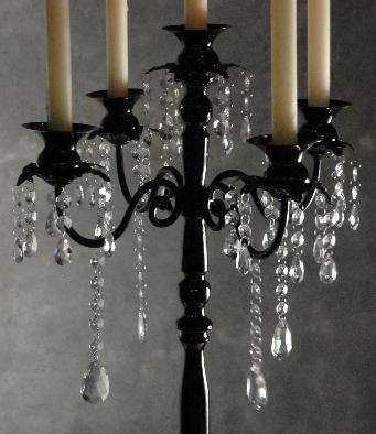 Black Tall candelabra