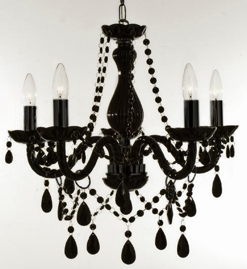 Black crystal chandelier