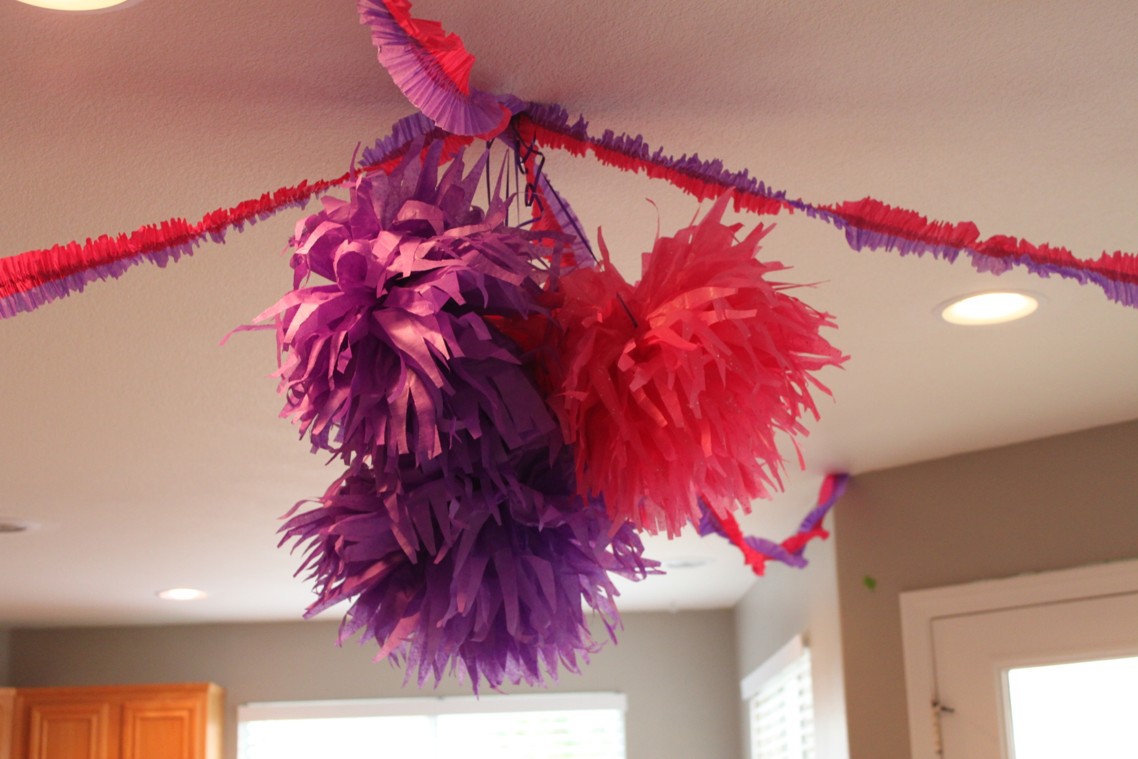 Large Pompoms and Streamers