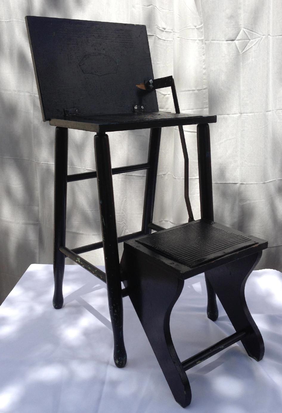 1930's folding step stool