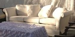 6' Ivory Sofa