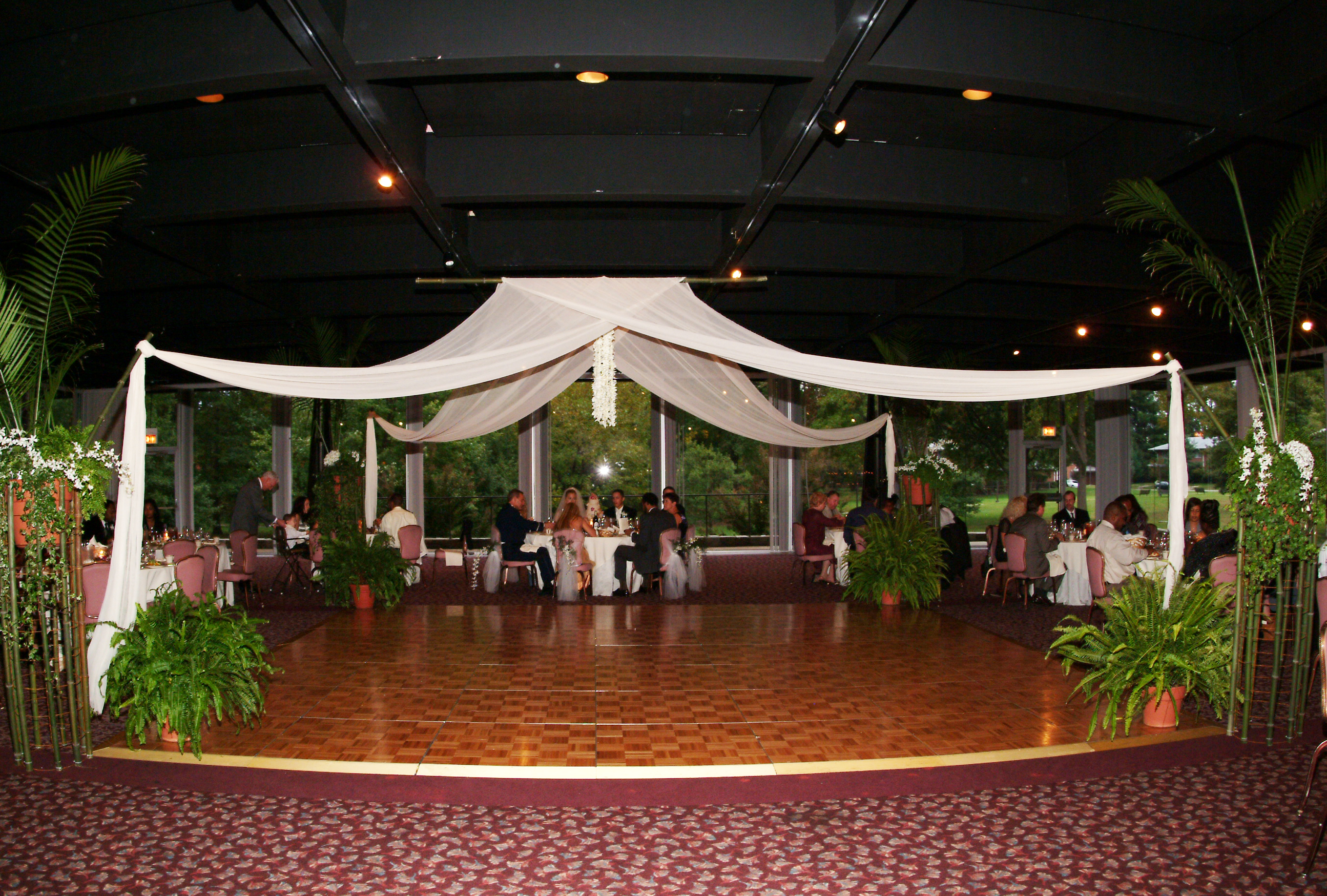Gauze Fabric Dance Area