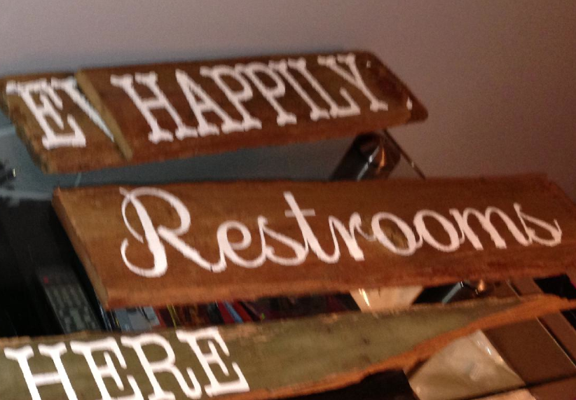 Various rustic signs