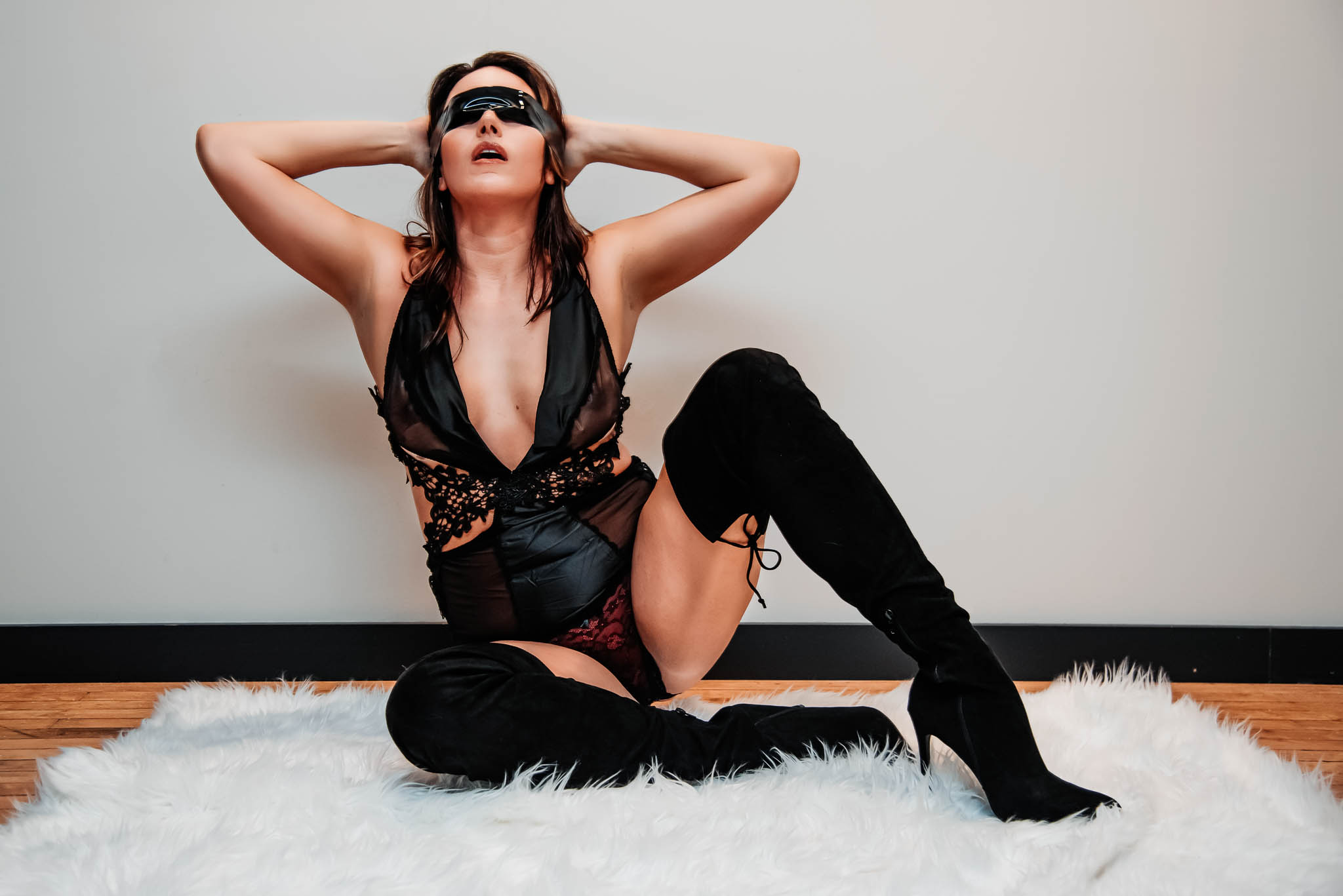 powerful woman appearing submissive