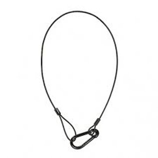 "30"" Safety Cable 5/16"" Hook, Black"