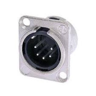 Neutrik Male 5 Pin XLR Panel Mount