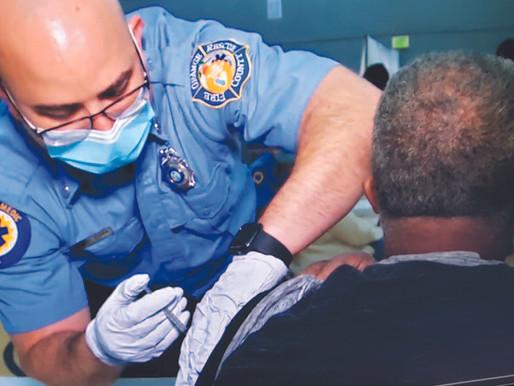 Orange County Fire & Rescue Teams Bring Vaccine to Pine Hills Seniors
