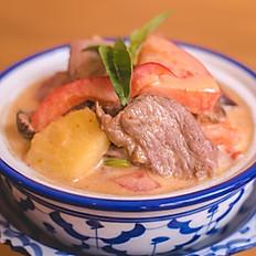Magret Canard au curry rouge