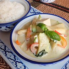 Tofu au curry vert