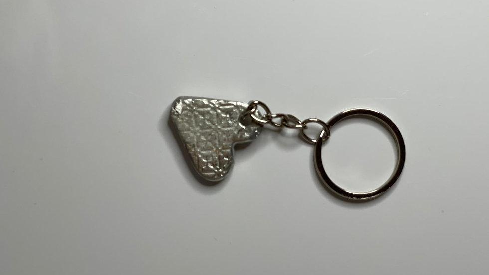 Small heart key ring