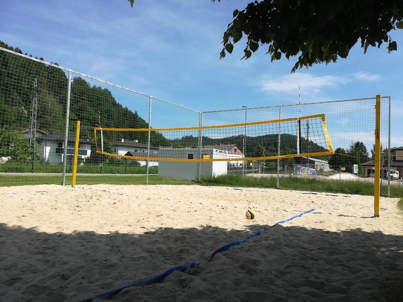 Der renovierte Beachvolleyballplatz in Munderfing