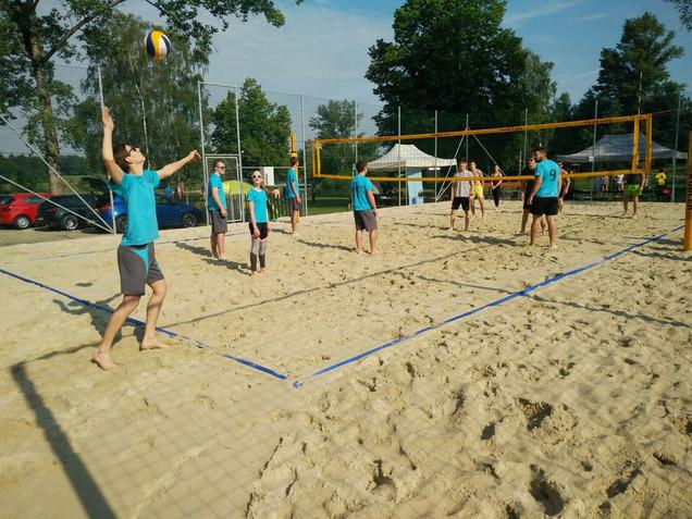 Sektion Volleball beim Turnier in Gundholling
