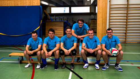 Gruppenfoto der Sektion Volleyball