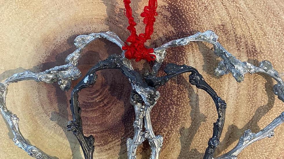 Triple apple tree heart