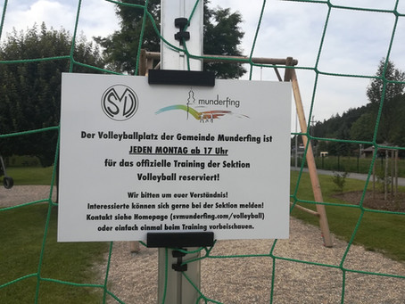 Platzrecht für Sektion Volleyball am Beachvolleyballplatz