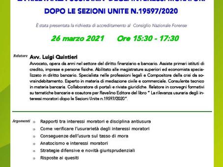 Convegno del 26 Marzo Relatore Luigi Quintieri