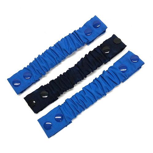 Blue and Navy Black Batik Adjustable Neck Strap