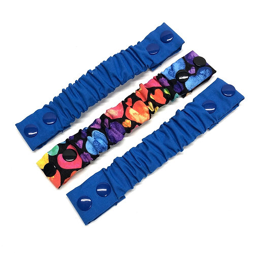 Blue Hearts Trio Adjustable Neck Strap