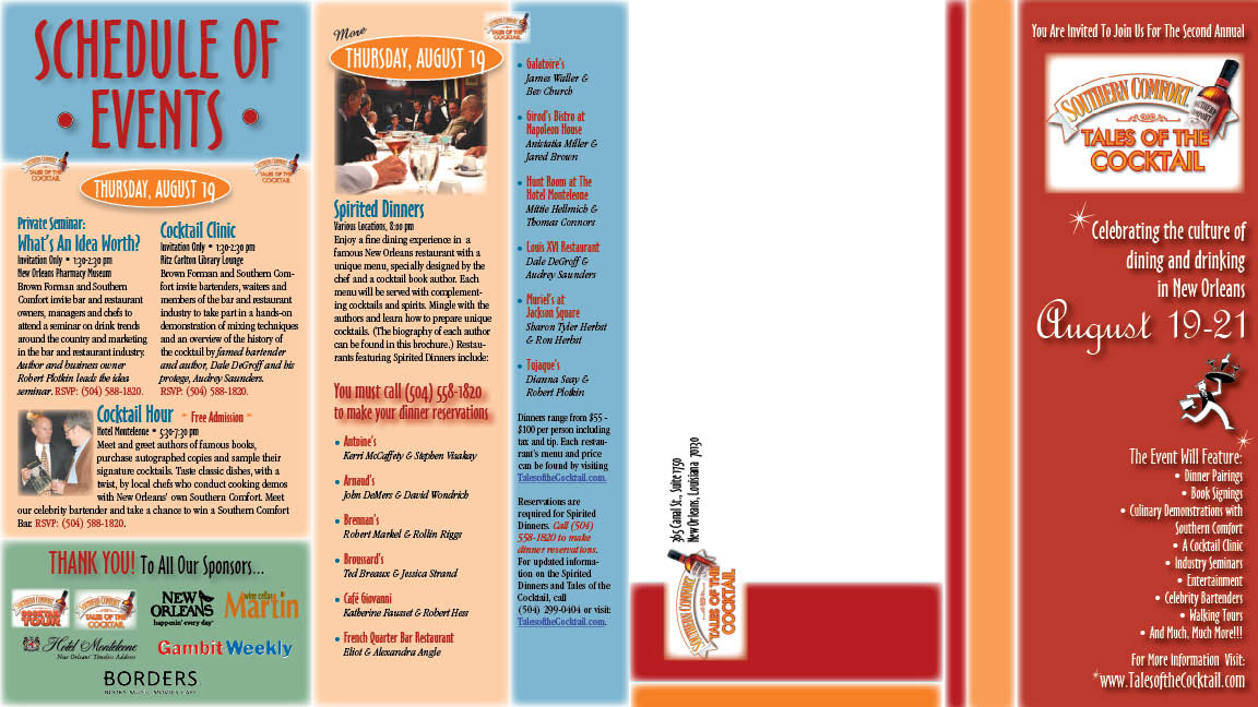 Tales of the Cocktail Brochure