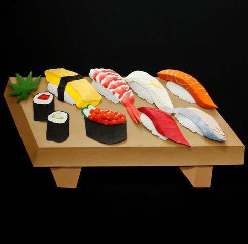 Sushi en papier