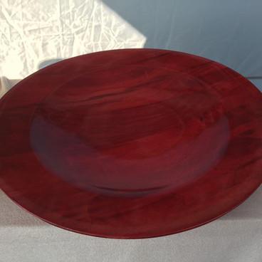 large red platter