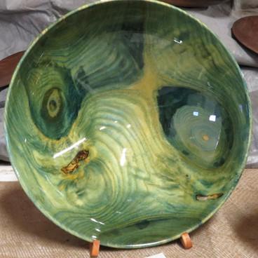 """Green """"van Goh"""" bowl"""