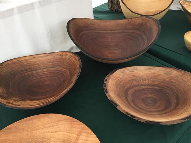 walnut live edge bowls