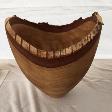 Birch live edge vessel