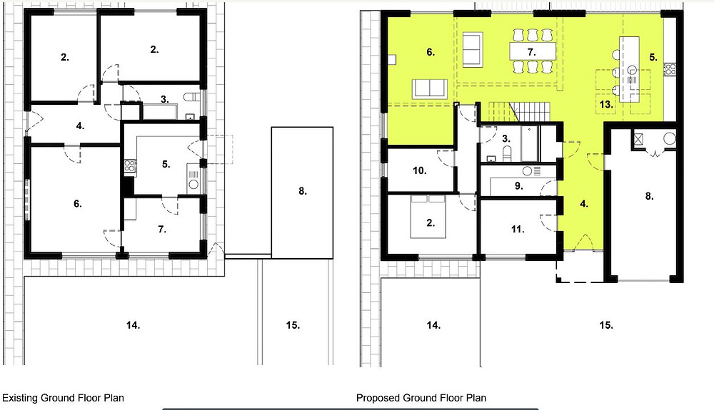 Existing and Proposed Floor Plan