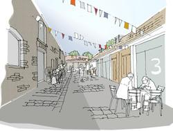 courtyard sketch colour