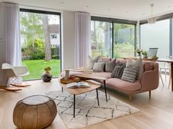 Scandi inspired corner glazed extension interior 05 by DHV Architects