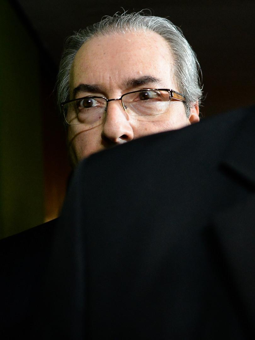1 - Eduardo Cunha nos corredores do Cong