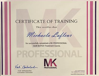 Hair Botox Certificate.HEIC