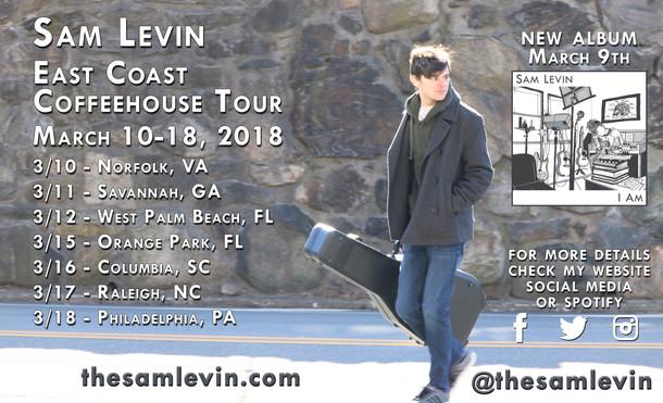 East Coast Coffeehouse Tour 2018 Poster