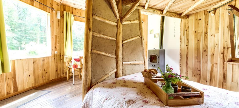 La cabane bois, vue sur la nature