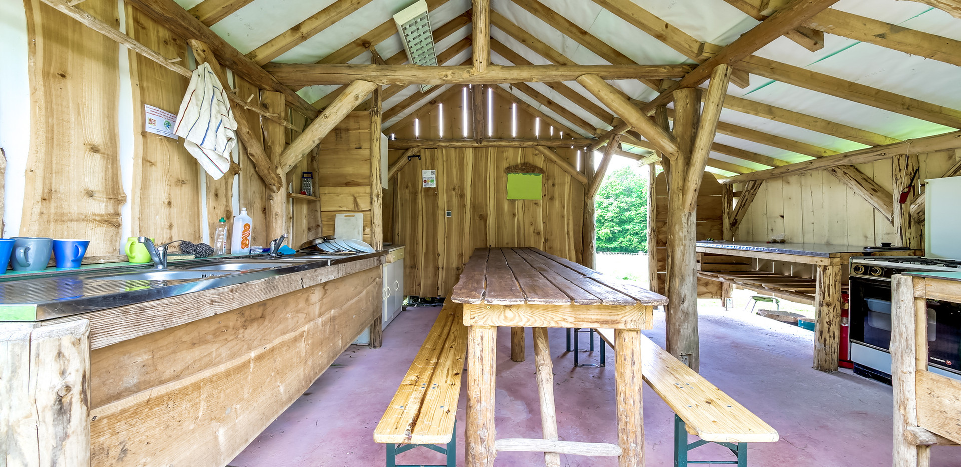 camping kitchen shared area