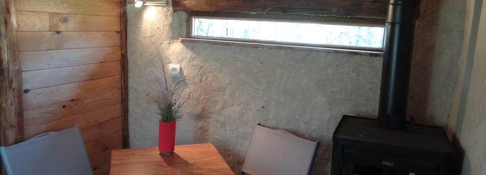 Poêle à bois pour chauffer la cabane