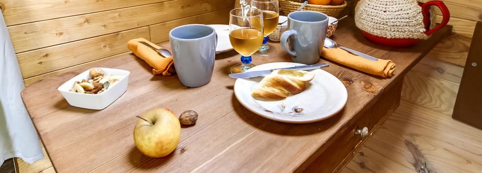 cabane hansel et gretel petit déjeuner