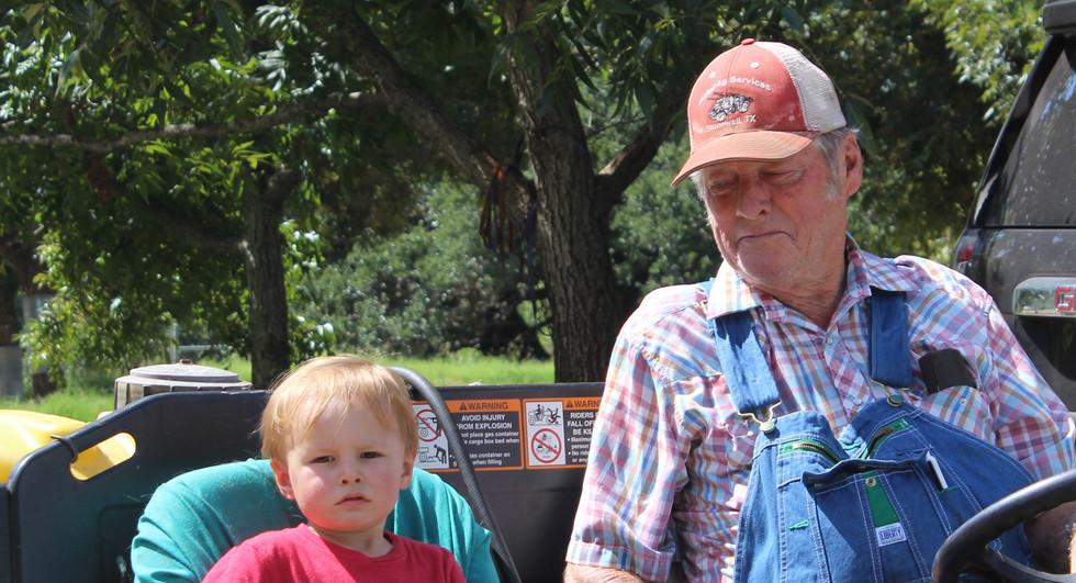 Buddy and Konrad, his grandson