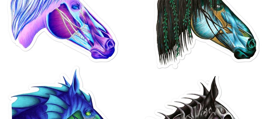 Fantasy Anatomy - Mythical Horse Head Series