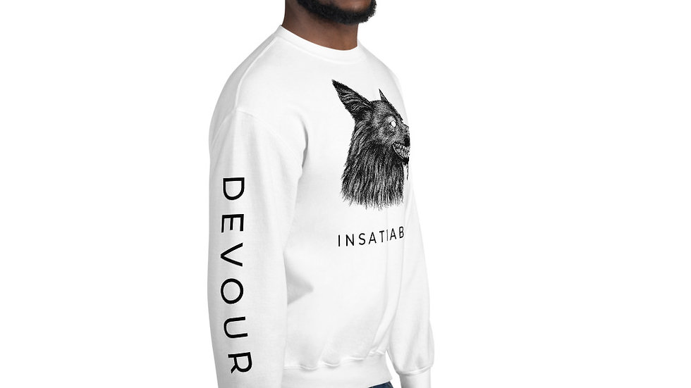 INSATIABLE Unisex Sweatshirt - Light