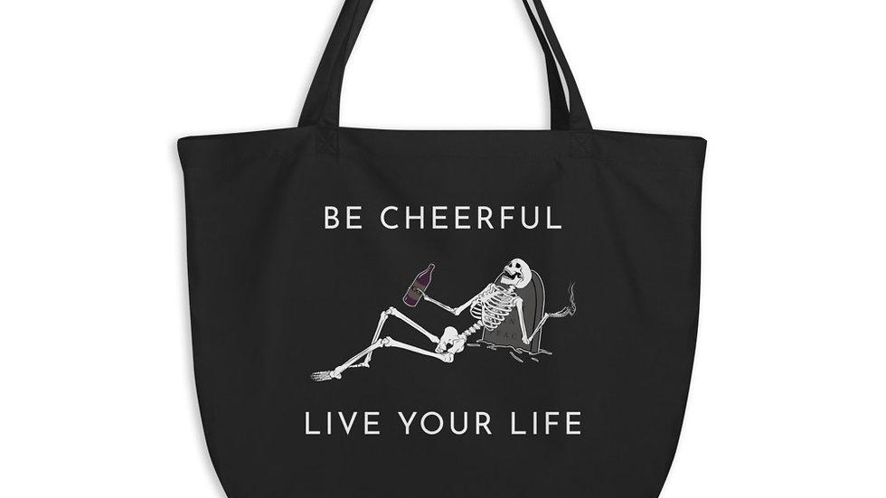 Be Cheerful Skeleton Tote