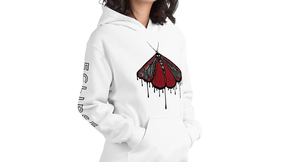 ECLIPSE Moth Unisex Hoodie - Light
