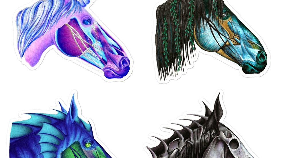 STICKER PACK - Fantasy Horse Anatomy