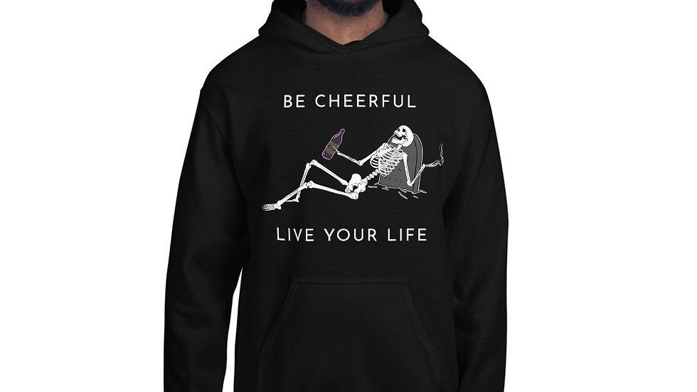 Be Cheerful Skeleton Unisex Hoodie