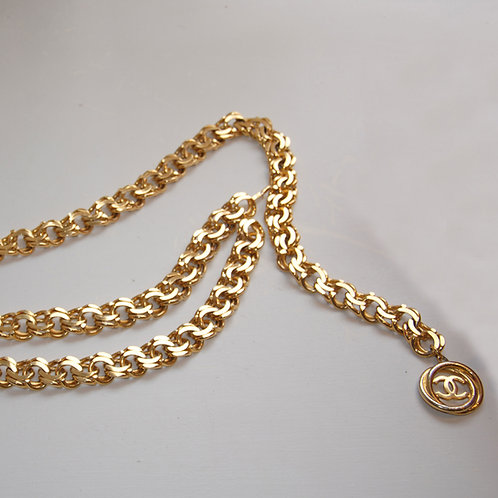 Chanel 1980's Gilt Chain Belt