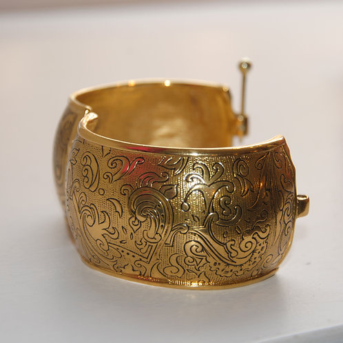 Yves Saint Laurent Gold Plated Statement Cuff