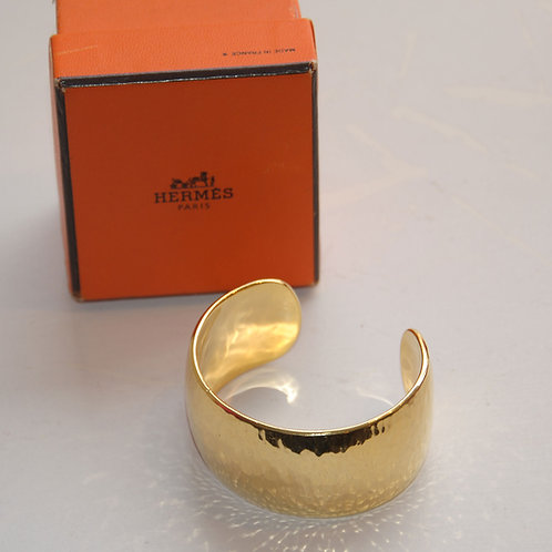 Hermes Solid Silver Gilt Cuff